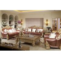 Wholesale Joyful Ever Furniture Classic Luxury Leather Sofa set by Hand carving for Reception room from china suppliers