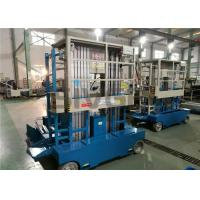 Quality 300kg Capacity Aerial Lift Platform , Dual Mast 10m Height Self Propelled for sale