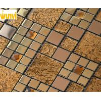 Wholesale Proffesional Non - Toxic Square Iregular Gold Glass Mosaic Tiles With CE from china suppliers