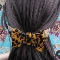 China Large Leopard Butterfly, France Cellulose Acetate, Hair Barrette Clip on sale