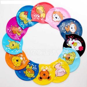 Quality Silcone Kids Swim Cap Carton Chrldren Swimming Cap Protect Head And Ear OEM Logo for sale