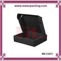 Wholesale Black corrugated shoe box, apparel garment cardboard paper box ME-CU011 from china suppliers