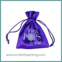 Wholesale small satin jewelry bag with silk screen printing from china suppliers