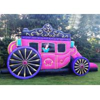 Wholesale 12' x 18' Or Customized Size Kids Pink Princess Inflatable Carriage Castle With Printing from china suppliers