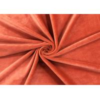 China 205GSM Soft Plush Toy Fabric Brick Red 100 Percent Polyester Material on sale