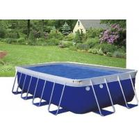 Quality Blue PVC Steel Frame Metal Frame Pool , Easy Set Up Swimming Pool With Accessories for sale