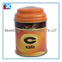 Quality round tin box for tea packaging for sale