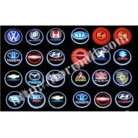Wholesale Sell 3D logo car led lights LASER LED Badge light auto projector door light from china suppliers