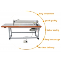 Wholesale Long Arm DP*17 Needle Lockstitch Industrial Flat Bed Sewing Machine from china suppliers
