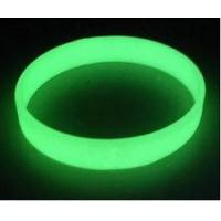 Quality glow in the dark silicone bracelet wristbands , Luminous silicone bracelets in for sale