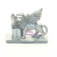 Wholesale Lion Holding Sword And Closed Book -Silver color from china suppliers
