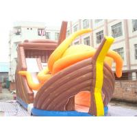 Wholesale Huge Commercial 0.55mm Tarpaulin Inflatable Pirate Ship Slide For Adults from china suppliers