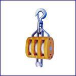 China B056 US Type Regular Wood Block Triple Sheave With Swivel Hook for sale