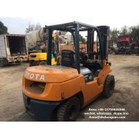 China 3 Mast Used Diesel Forklift Truck 7FD40 SGS Approved With Middle Cylinder on sale