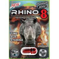 China Rhino 8 platinum 8000 fast acting long lasting  No headache strongl male sex enhancer for sale