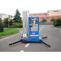 Quality Aluminium Alloy Single Mast Lift Hydraulic Elevating Platform With 10 M Working for sale