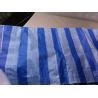 80gsm striped rain fly pe tarpaulin for sale
