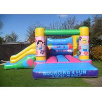 Wholesale Lovely Snow White Princess Moon Bounce Slide Combo With 0.55mm PVC from china suppliers
