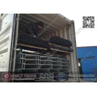 """Quality 2.4m high """"D"""" section profile Steel Palisade Fencing 2.75m width 