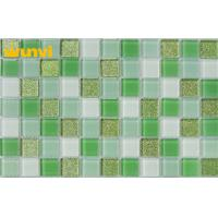 Wholesale Green Irregular Strip Crystal Glass Mosaic Tiles For Classical Decoration from china suppliers