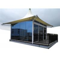 China Laminated Glass Luxury Resort Tents Sound Insulation Wall Steel Structure on sale