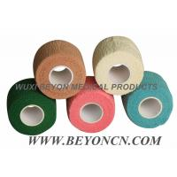 Wholesale Hand Tear Cotton Cohesive Sports Injury Strapping Tape / Soft Comfortable Bandage from china suppliers