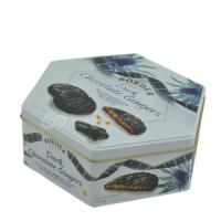 Buy cheap Recycled food grade airtight tin box for cookies hexagonal metal biscuit cookie from wholesalers