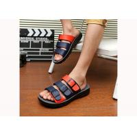Wholesale Black / White Mens Leather Slippers Cowhide Leather Shoes Mens Designer Flip Flops from china suppliers
