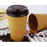Wholesale PLA Compostable Cups, Single wall paper cups, Double wall paper cups, Ripple wall paper cups, Soup Cup, Bowl, Handle pap from china suppliers