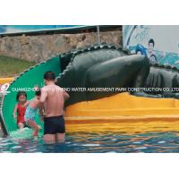 Water Park Equipment Crocodile Slide , Commercial Small Fiberglass Water Slide