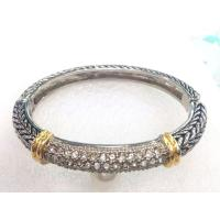 Wholesale (B-89)Style Women's Jewelry Gold Silver Tone Plate Pave High Quality Cubic Zircon Bracelet from china suppliers