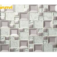 Wholesale 5 Facets No Radiation Silver Mirror Mosaic Wall Tiles With Glass Chip from china suppliers