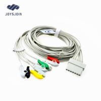 China Schiller 7pin  ECG cable with leadwires,TPU material patient cable for ecg machine for sale