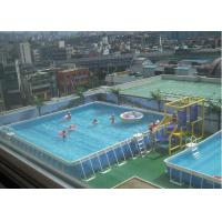 Quality Outdoor Square Metal Frame Pool , Metal Frame Swimming Pool For Rental for sale