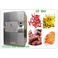 Wholesale 8KW SS Microwave Vacuum Drying Equipment Box Type Food Sterilizer Machine from china suppliers
