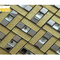Wholesale Abrasion - Resistant Gold Mosaic Bathroom Tiles With13 Facets Crytal Mosaic Chips from china suppliers