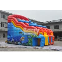 Wholesale Dual Lanes Seaworld Theme Inflatable Water Slides Waterproof For Inground Pool from china suppliers
