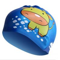 Quality Fasion and Health Silicone Childrens Swimming Hats Blue Swim Cap OEM for sale