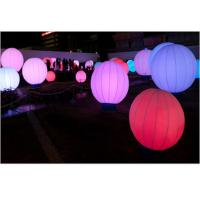Wholesale Event Inflatable Advertising Products , Led Lighted Colorful Inflatable Ground Ball from china suppliers