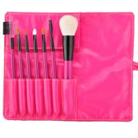 Buy cheap Red Wood Handle Cosmetic Brush Set In Antibacterial Fiber Hair from wholesalers