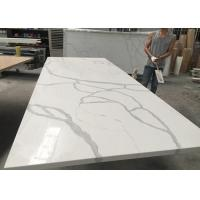 Wholesale Gray And White Quartz Tile Countertop Kitchen Cabinet Top Customised Size from china suppliers