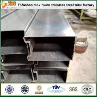 Wholesale 316 grade special shape inox pipes with single slot from china suppliers