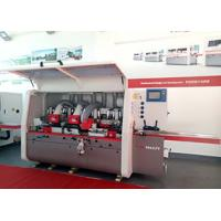 Buy cheap Touch Screen 4 Head Planer Moulder , Door Frame Wood Moulding Machine Shock from wholesalers