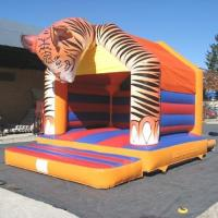 Wholesale Outdoor Plato PVC Tarpaulin Inflatable Bouncy Castle Tiger Head from china suppliers