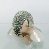 Wholesale (R-13) New Style Jewelry Women Fashion Pave Clear Cubic Zircon 925 Silver Ring from china suppliers