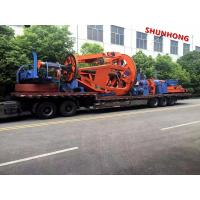 Wholesale Cantilever Back Twisting 1.25-1.6 M 3 Bobbin Cable Winding Machine 50RPM Pneumatic Brake from china suppliers