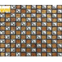 Wholesale Classical Wall Round Gold Stainless Steel Mosaic Tile With Glittering from china suppliers