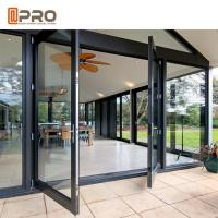 Large Size Heavy Duty Aluminium Hinged Doors / Frosted Tempered Glass Door for sale