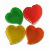 Wholesale Heart-shaped Cake Pans, Made of 100% Food Grade Silicone, European Standard, OEM Orders Accepted from china suppliers