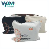 Wholesale Recycling Coin Travel Cosmetic Bags With Zipper Cotton Canvas Material from china suppliers